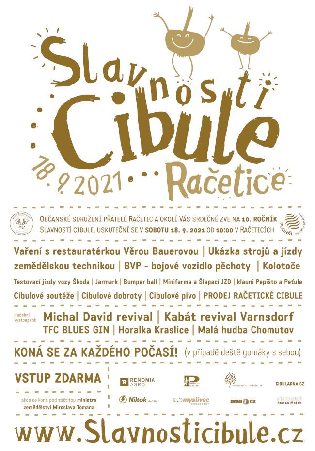 Plakát Slavnosti cibule 2021 Račetice